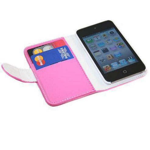iTALKonline Credit Card Holder and Wallet Case Pink For - Apple iPod Touch 4G