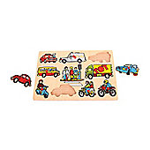Bigjigs Toys BJ097 Transport Lift Out Puzzle