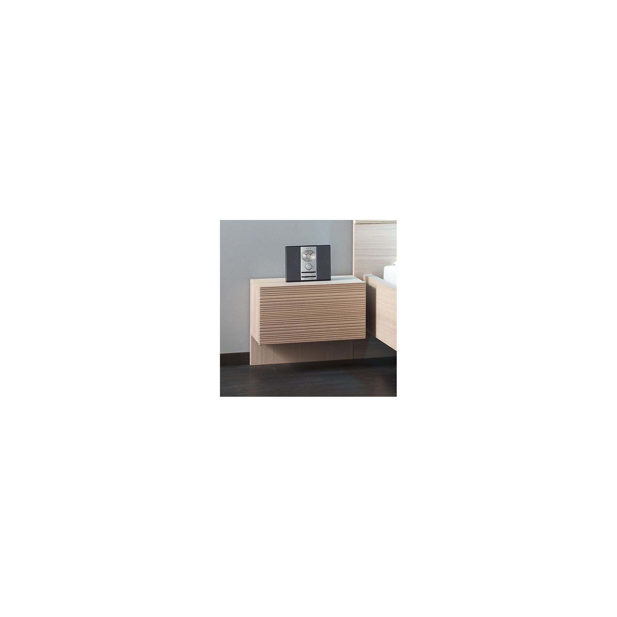 Sleepline Diva Bedside Table - White Mat Lacquered at Tescos Direct