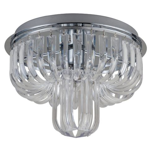 Tesco Lighting Ritz Ceiling Light Clear