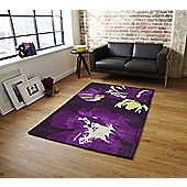Oriental Carpets & Rugs Hong Kong 2827 Purple/Green Rug - 90cm x 150cm