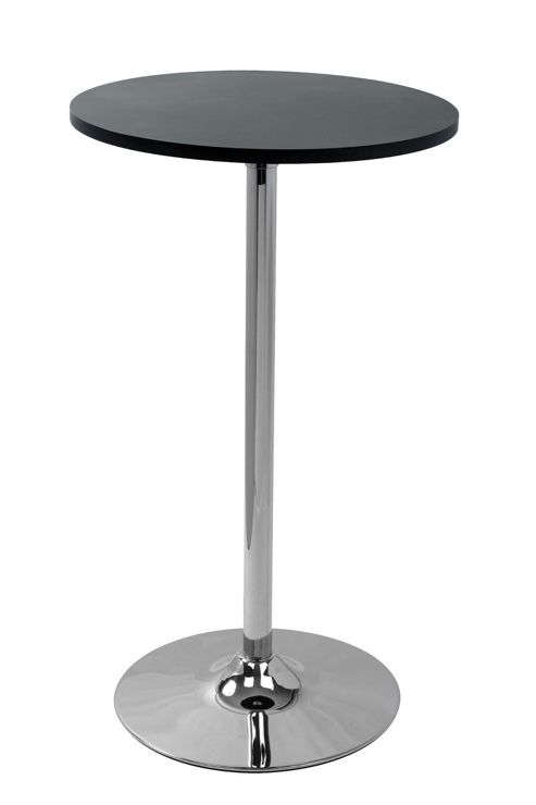 Lamboro Barstools Como Poseur Round Table - Black Wood
