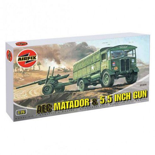 AEC Matador & 5.5 Inch Gun (A01314) 1:76