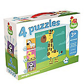 Jumbo Playlab 4-in-1 Jungle Animals - Games/Puzzles