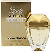 Paco Rabanne Lady Million Eau My Gold! Eau de Toilette (EDT) 50ml Spray For Women