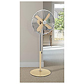 Swann Vintage Blue 16 Stand Fan - 3 Speed