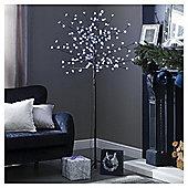 6ft Pre Lit Christmas Tree, Cherry Tree (180 white LEDs)
