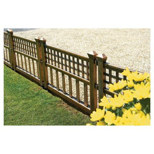 Greenhurst Bronze Effect Fence Panels, 4 pack, 60x36cm