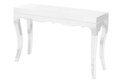 Premier Housewares Roccoco Console Table - White High Gloss