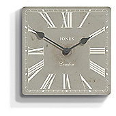 Jones & Co Cotswolds Clock, Grey