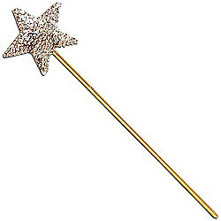 Bristol Novelty - Magic Wand - Sequin Gold
