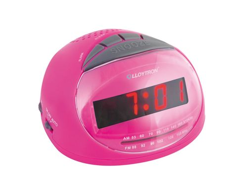 buy lloytron j2002pk sonata radio alarm clock pink from our clocks range tesco. Black Bedroom Furniture Sets. Home Design Ideas