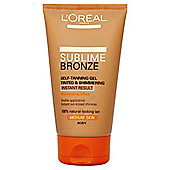 L'Oréal Sublime Self-Tan Tinted Gel Medium 150ml