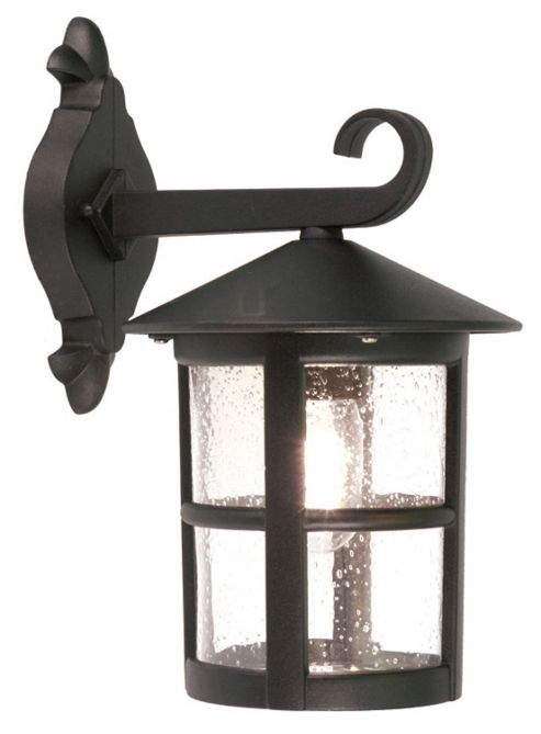 Elstead Lighting Hereford Large Outdoor Wall Lantern in Black