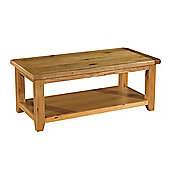 Kelburn Furniture Bordeaux Coffee Table in Medium Oak Stain and Satin Lacquer