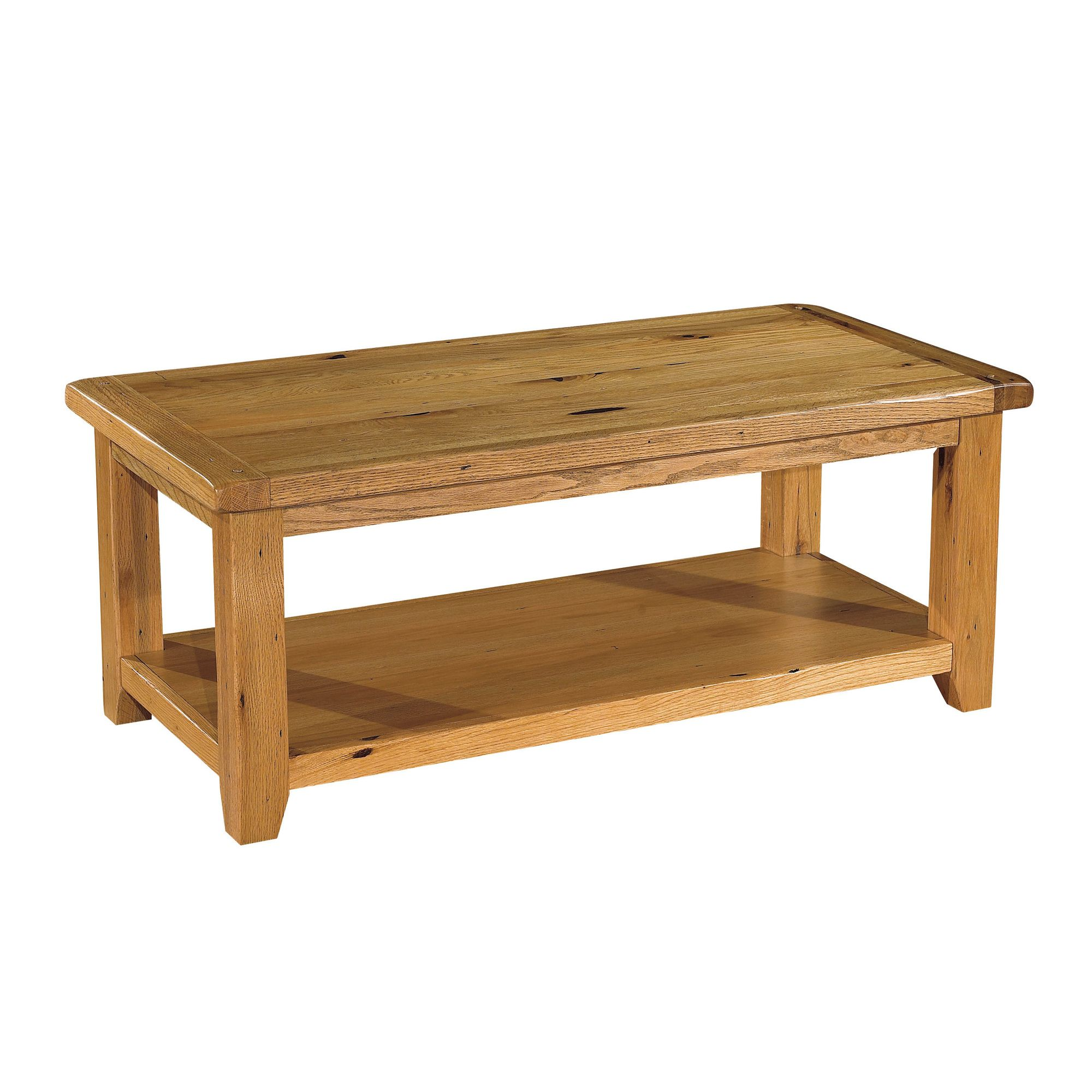 Kelburn Furniture Bordeaux Coffee Table in Medium Oak Stain and Satin Lacquer at Tesco Direct