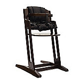 Walnut BabyDan Danchair High Chair & Black Comfort Cushion