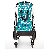 Outlook Cotton Travel Comfy Pram Liner (Turquoise Giraffe)