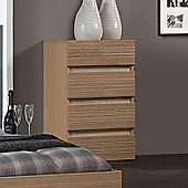 Sleepline Diva 4 Drawer Narrow Chest - Mat Lacquered