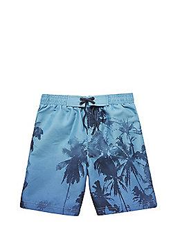 F&F Palm Tree Swim Shorts - Blue