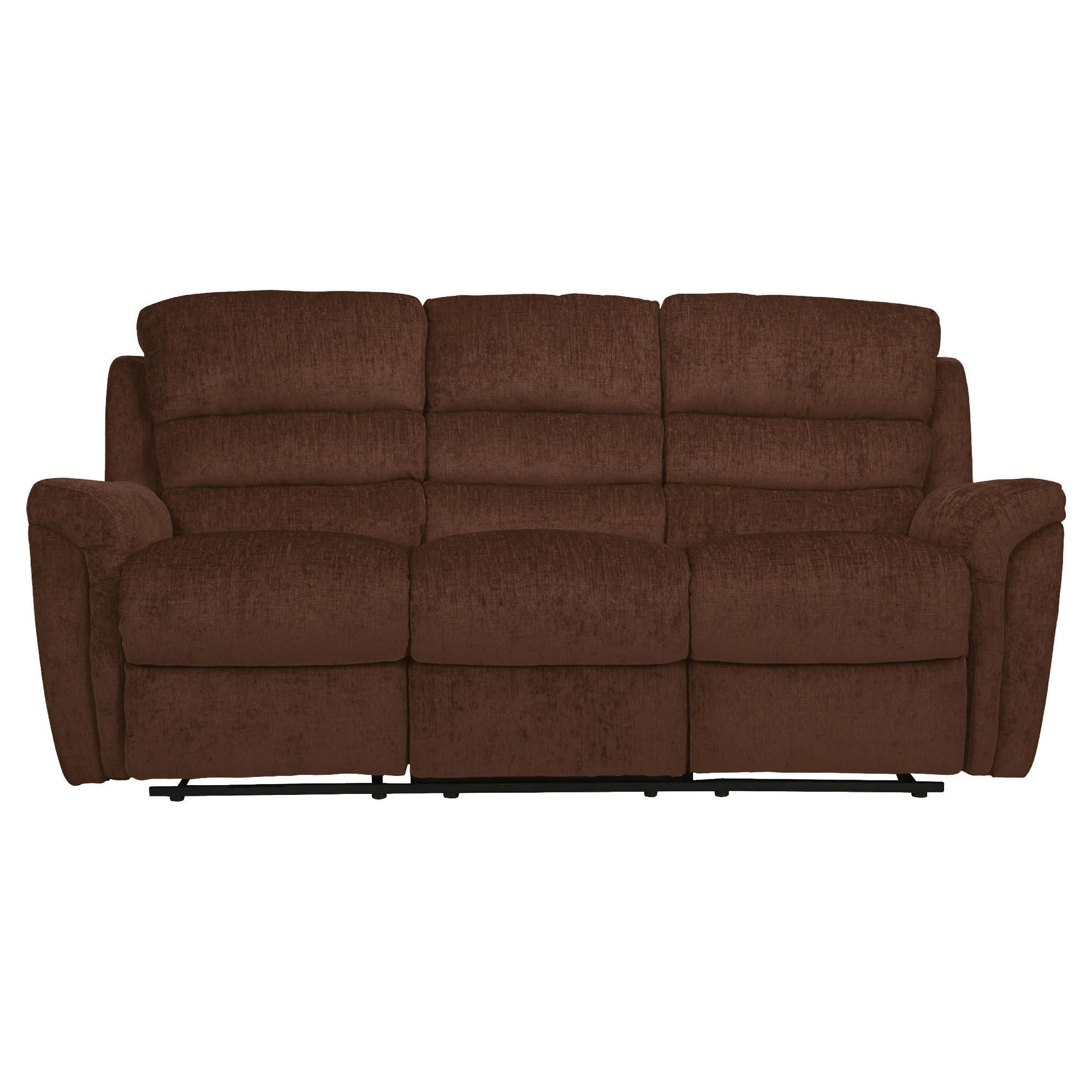 Chloe Fabric Large Recliner Sofa, Chocolate at Tescos Direct