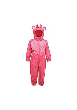 Regatta Kids Charco Waterproof Rain Suit - Pink