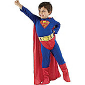 Child Superman Super Hero Costume Large