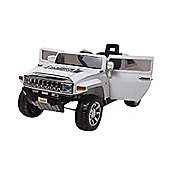 12V Hummer Ride On Car White