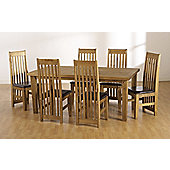 Home Essence Tortilla 7 Piece Dining Set With Upholstered Seat - Upholstered