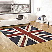 Retro Funky Buckingham Red/White/Blue 160x225 cm Rug