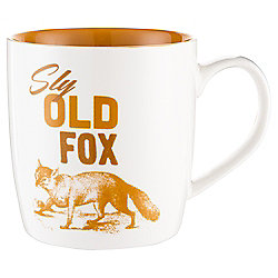 Tesco Sly Old Fox Slogan Mug Single