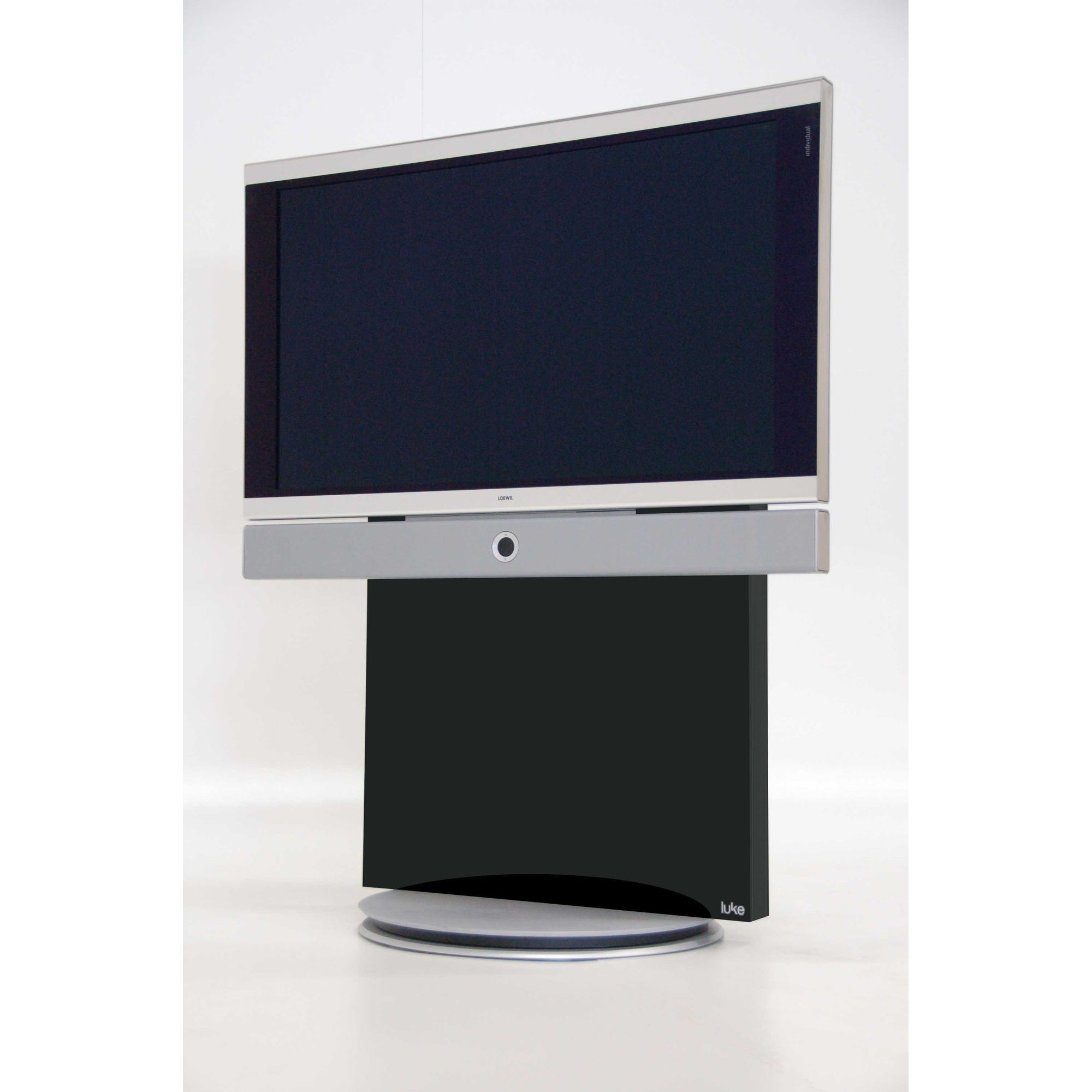 Luke Furniture TV Stand - High Gloss Black at Tesco Direct