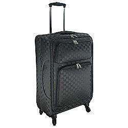 Tesco Lightweight 4-Wheel Large Zig Zag Suitcase
