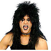 80's Hard Rocker - Black Wig