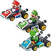 Carrera Mario Kart 7 Mario Luigi Yoshi Pull & Speed Cars 13004 3 Pack Nintendo