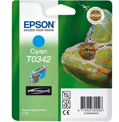 Epson T0342 Cyan Ink Cartridge for Stylus Photo 2100 Printer
