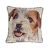 McAlister Printed Terrier Dog Cushion - Wool Look