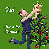 Holy Mackerel Happy Christmas Dad. Have A Top Christmas Greetings Card