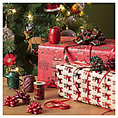 Christmas Ribbon and Bow Accessories Pack, Red and Green