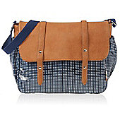 Isoki Monaco Messenger Changing Bag Blue Moon