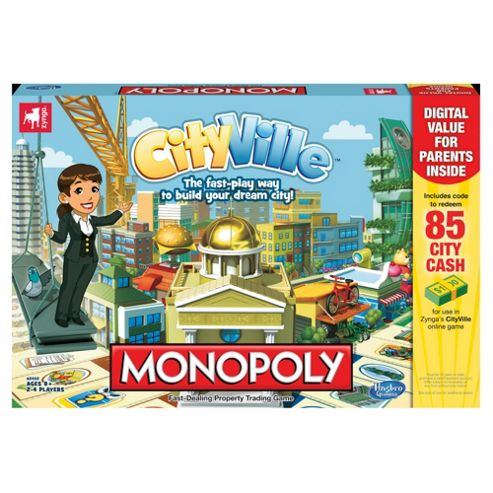 Monopoly Cityville Family Board Game