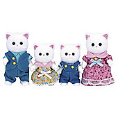 Sylvanian Persian Cat Family