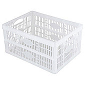 Tesco 32L Plastic Folding Crate, Clear