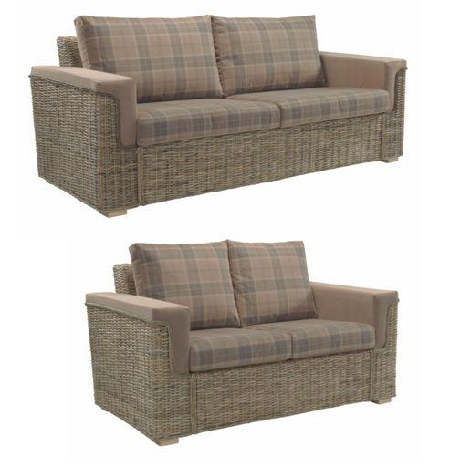 Buy Desser Bath 3 Seater 2 Seater Sofa Set In Tartan
