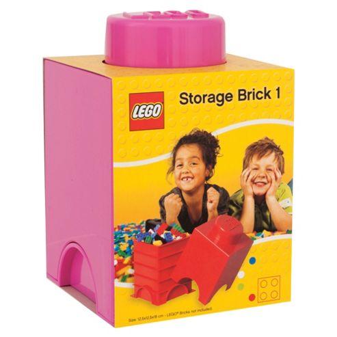 LEGO Storage Brick 1 Pink
