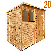 BillyOh 20 7 x 5 Rustic Overlap Pent Shed
