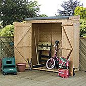 Mercia Garden Products Shiplap Pent Shed - 204 cm H x 364 cm W x 240 cm D