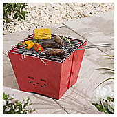 Tesco Square Bucket Charcoal BBQ, Red