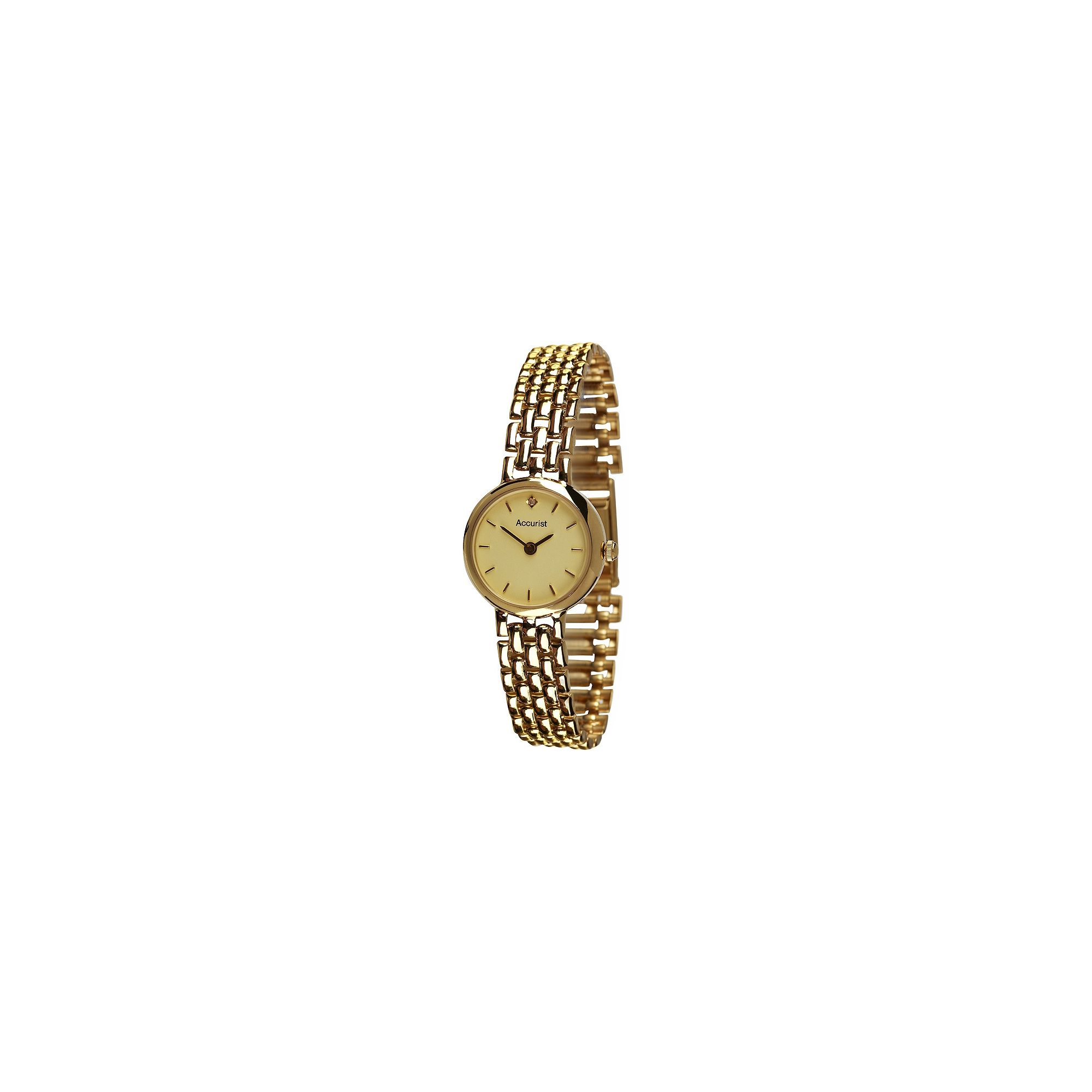 Accurist Ladies 9ct Gold Watch GD2676 at Tesco Direct