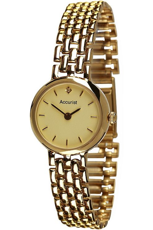 Accurist Ladies 9ct Gold Watch GD2676